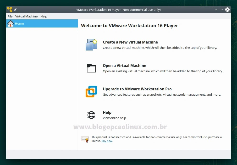 VMware Workstation Player executando no openSUSE Leap 15.3