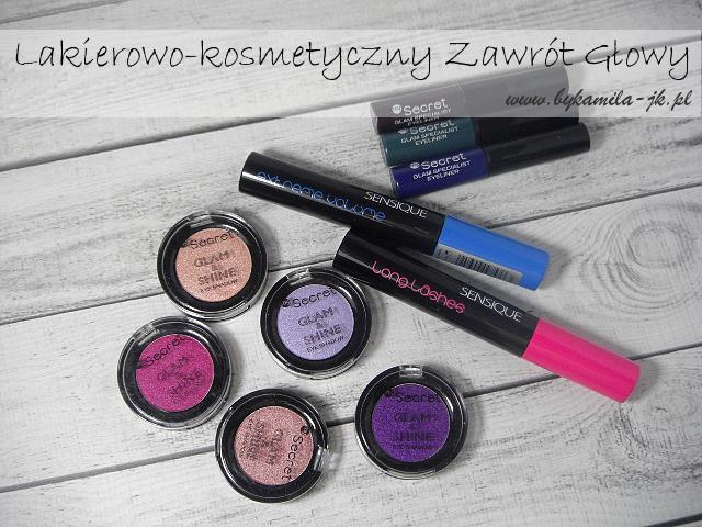 Cienie My Secret Glam&Shine eyelinery tusze Sensique Natura nowości kolorówka