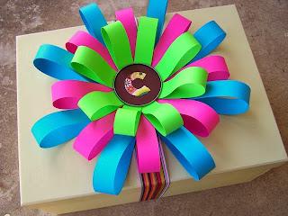 Renkli Kağıtlardan Hediye Paketi Süsleme