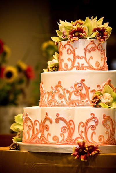 peach themed wedding cakes dreams and themes themed wedding 18140
