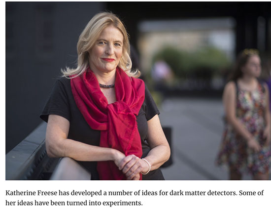 Professor Freese discusses solid state dark matter detectors (Source: quantamagazine.org)