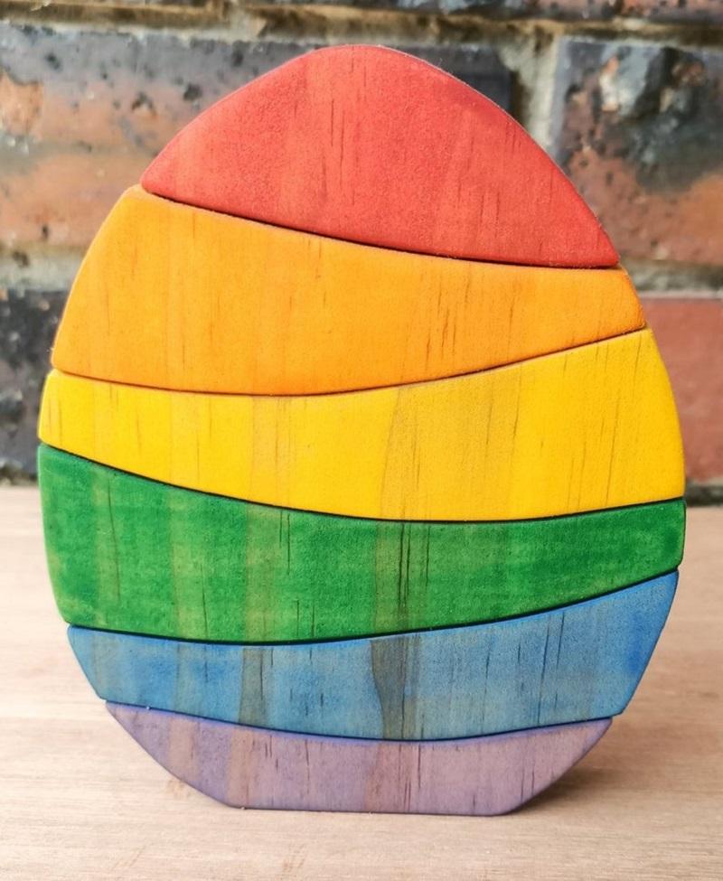 rainbow egg stacking puzzle