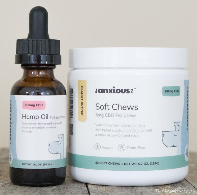 CBD chews and hemp oil for dog anxiety