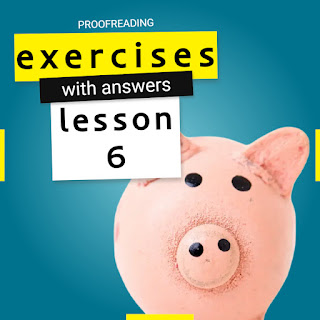 proofreading exercises with answers lesson 6 by Mr.Zaki | learn English