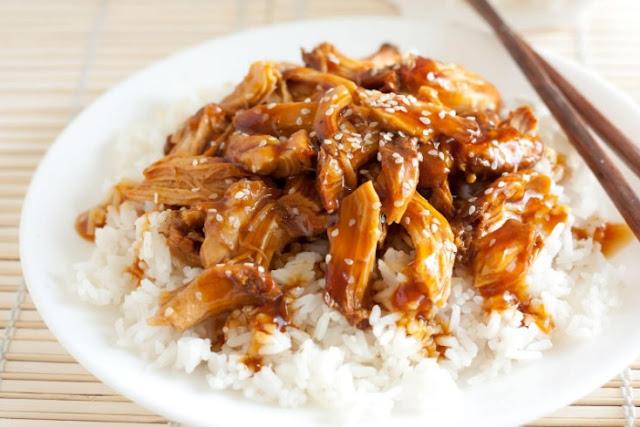 Slow Cooker Teriyaki Chicken #dinner #chicken