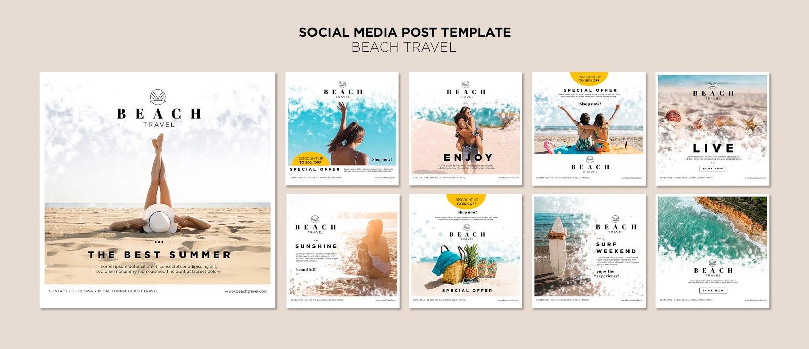 Download a professional social media banner design set