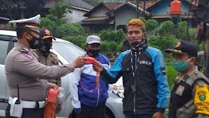 Cegah Covid-19, Kapolsek Nagreg Polresta Bandung, Pimpin Operasi Yustisi Protokol Kesehatan