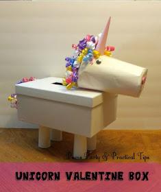 Valentine Box, Unicorn craft, class party ideas