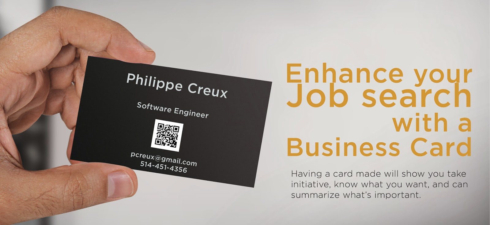 Personal Business Cards For Job Seekers Examples Gallery - Card ...
