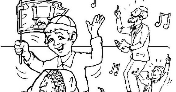 Simchat torah coloring pages for Torah coloring pages for kids