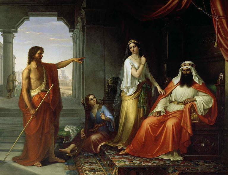 São João Batista increpa o rei Herodes, Giovanni Fattori (1825 – 1908)