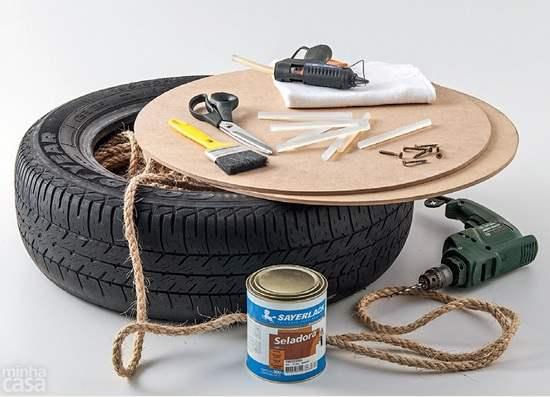 perabot diperbuat daripada tayar kereta
