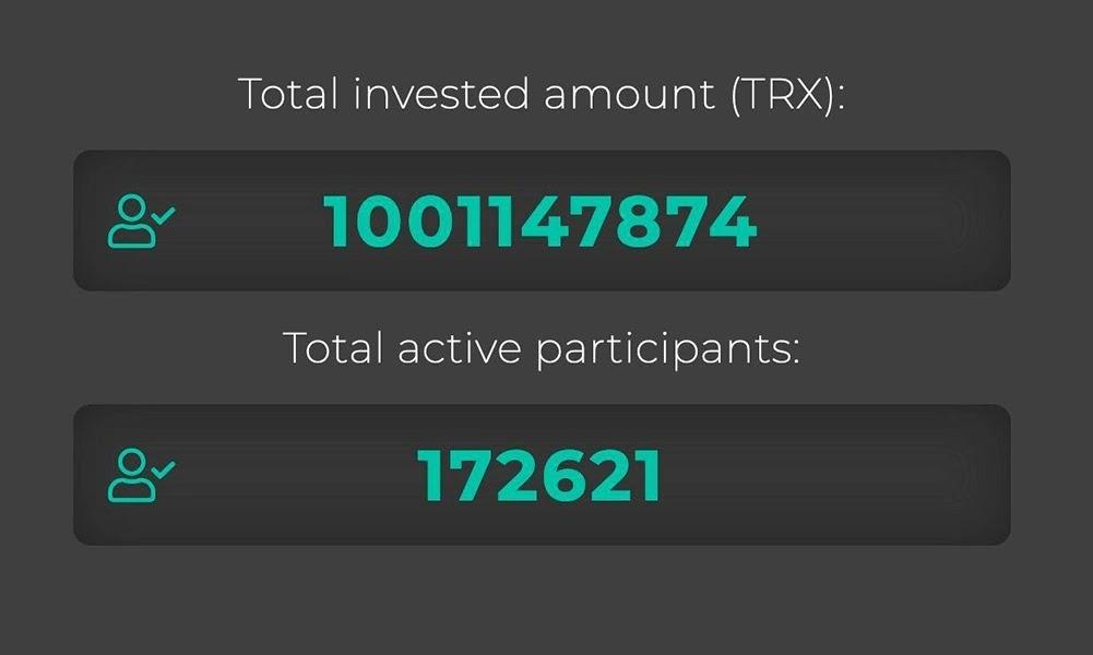 Общая статистика в TRONex