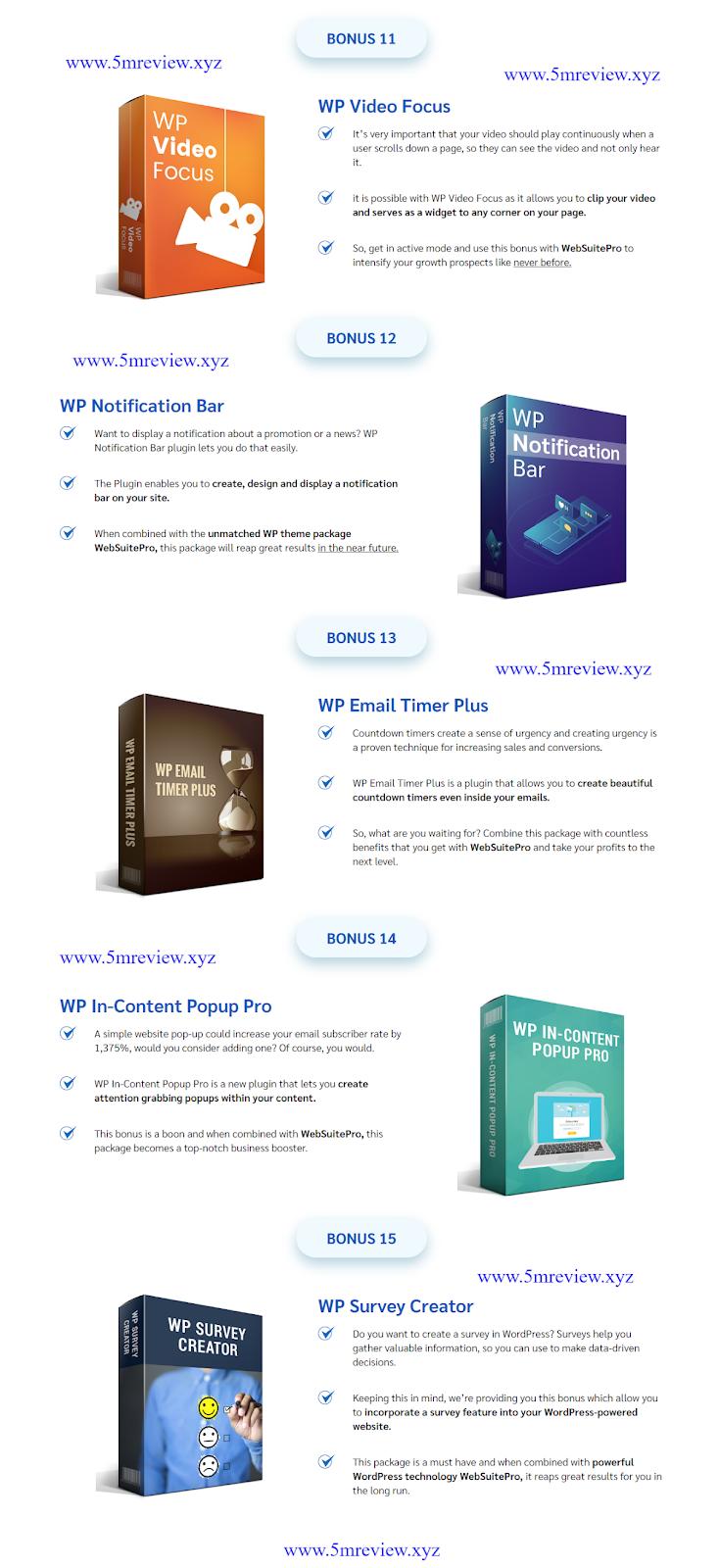 WebSuitePro review Bonus List 3