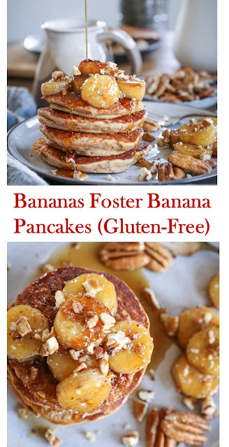 Bananas Foster Banana Pancakes (Gluten-Free)