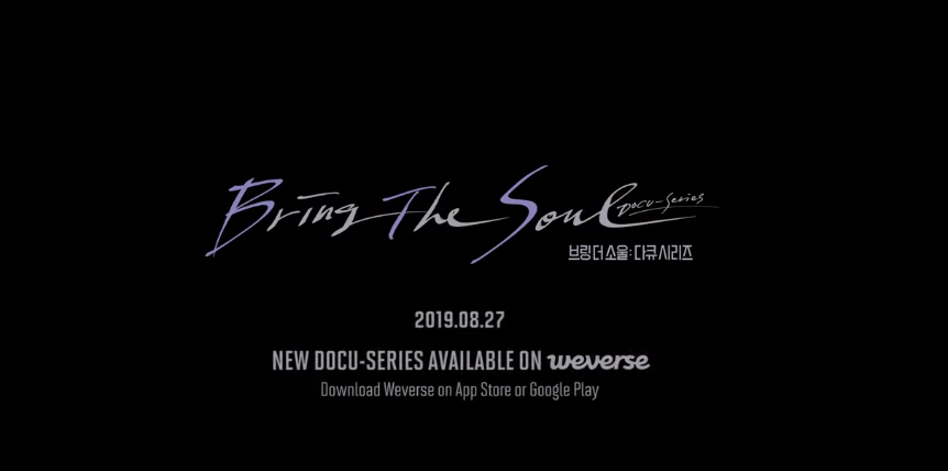 "Dokument BTS ""Bring The Soul"" od 27 sierpnia ekskluzywnie na Weverse 190816   CRUSHONYOU"