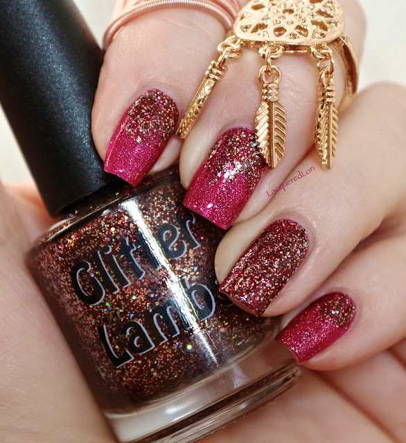 "Swatch by @LacqueredLori  This is glitter topper is called Glitter Lambs  ""Cinnamon Nut Bread"".  See more of Lori's swatches on her website at https://lacqueredlori.wordpress.com"