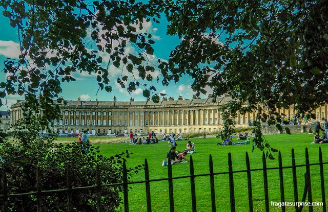 Bath, Inglaterra: o Victoria Park e o Royal Crescent