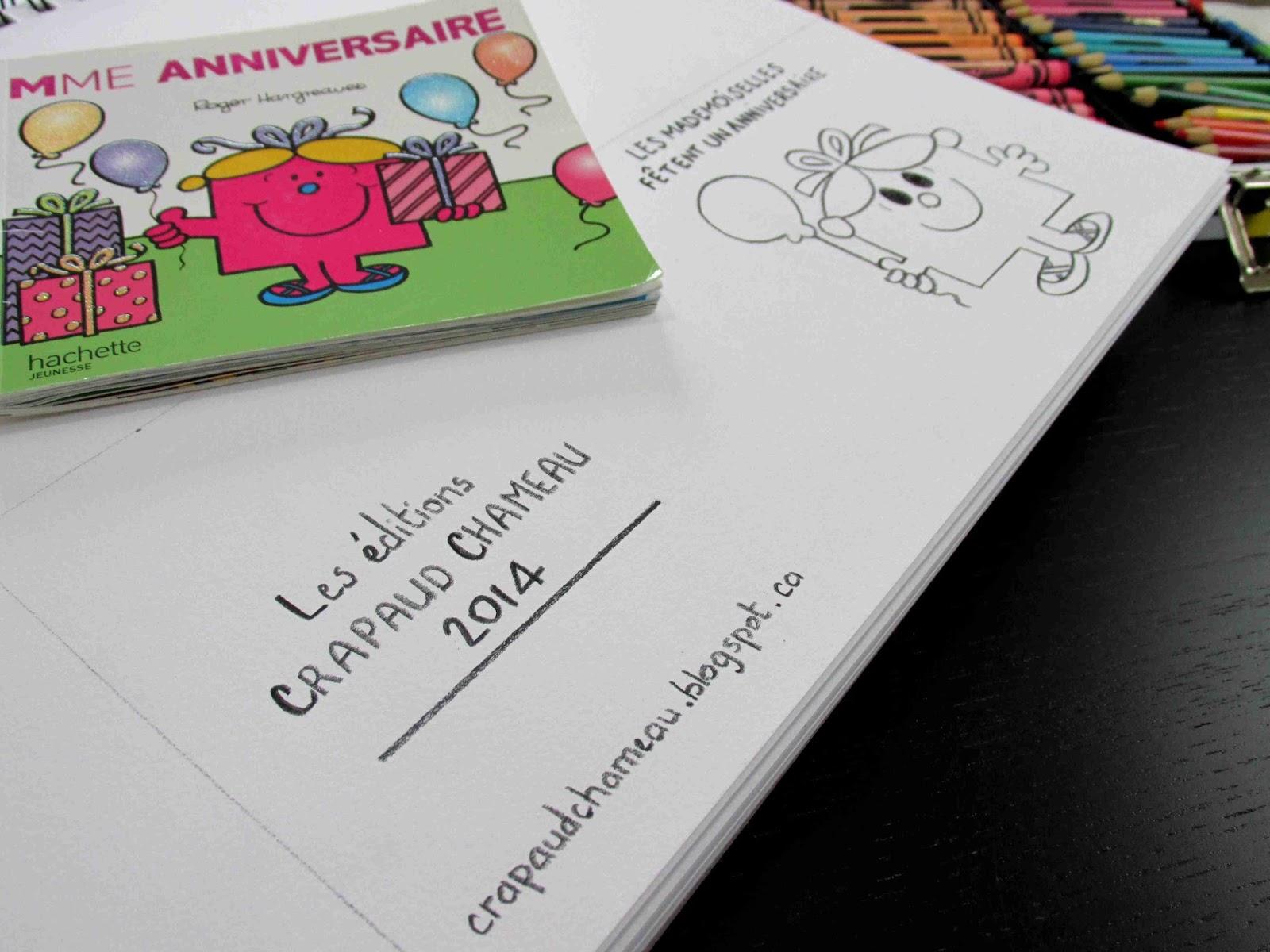 Carte d'anniversaire Monsieur Madame