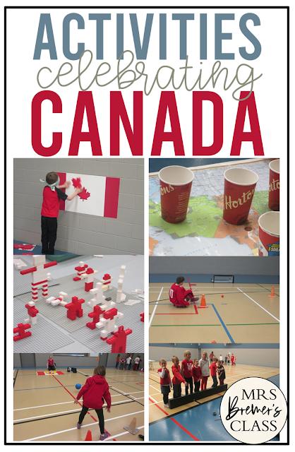 Canada themed activities to celebrate Canada for Kindergarten, Grade 1, Grade 2, Grade 3