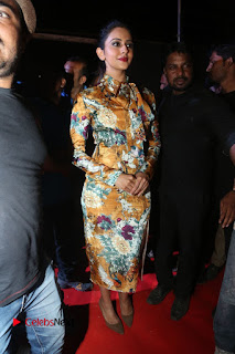 Actress Rakul Preet Singh Stills in Short Dress at Dhruva Pre Release Function  0008.JPG
