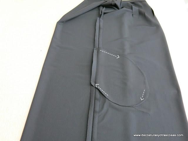 como hacer vestido con bolsillos fácil