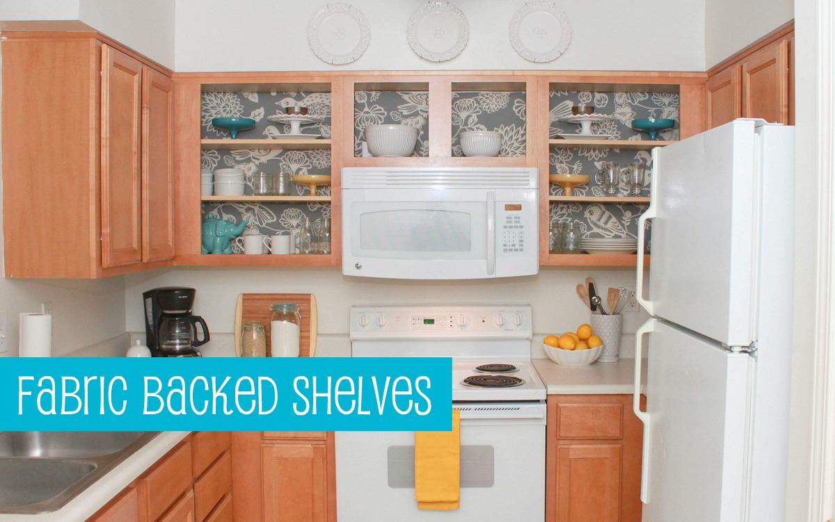 Apartment Decorating Ideas Kitchen Diy Projects Fabric Backed Shelves