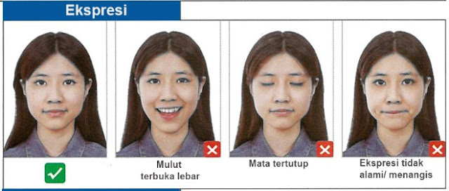 foto untuk visa china-ekspresi