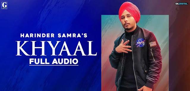 Khyaal Lyrics - Harinder Samra