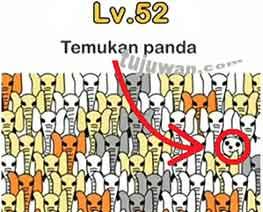 Jawaban level 52 temukan panda brain out