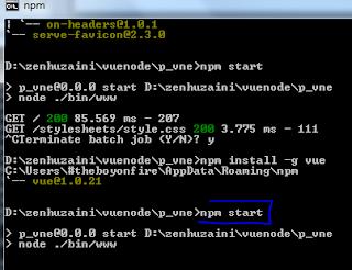 Penggunaan Vue.Js dengan Node.Js dan Express.Js