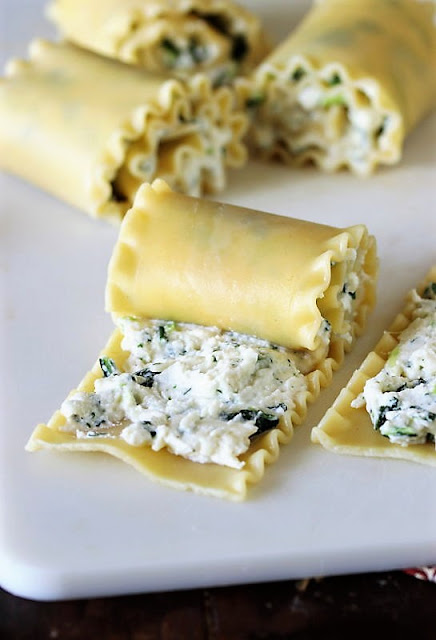 Rolling Up Noodles for Spinach Lasagna Roll-Ups Image