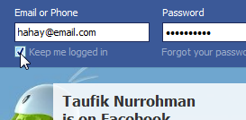 Formulir Login Facebook