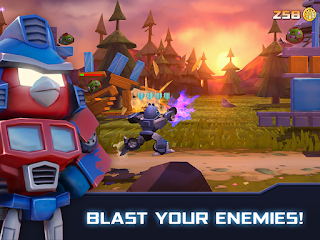 Angry Birds Transformers Mod Apk unlimited money
