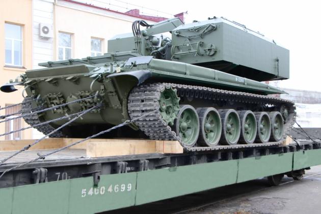 На Росії проводять модернізацію вогнеметних установок ТОС-1А