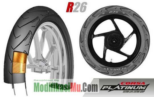 Corsa Platinum R26 Racing - - Update Promo Daftar Harga Ban Motor Corsa Platinum R26 R93 dan R99 Spesial Racing Balapan Kering Basah