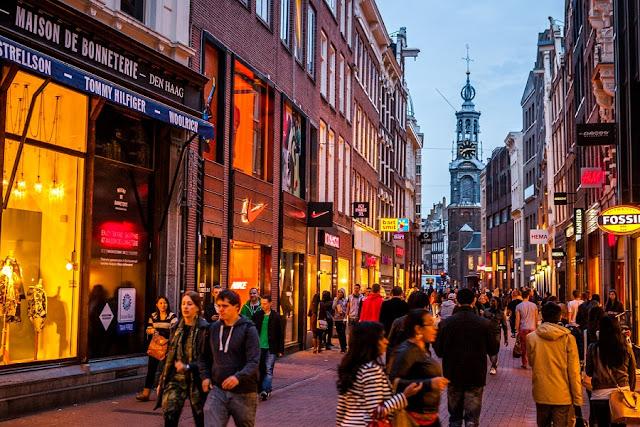 Tour de compras em Amsterdã