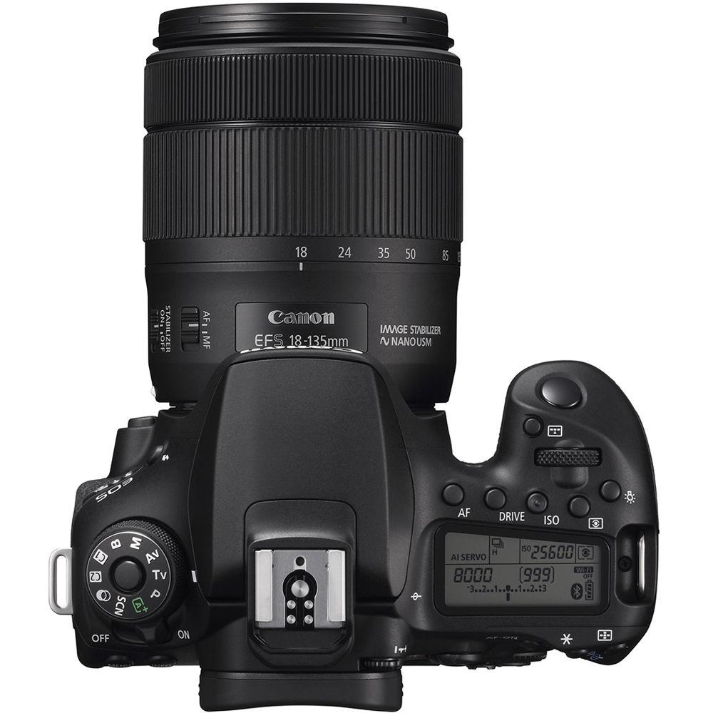 Canon EOS 90D, вид сверху