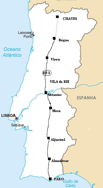 """estrada nacional 2 mapa Mala de Viagem: Roteiro: Estrada Nacional nº 2 (ou EN2), a """"Route  estrada nacional 2 mapa"""