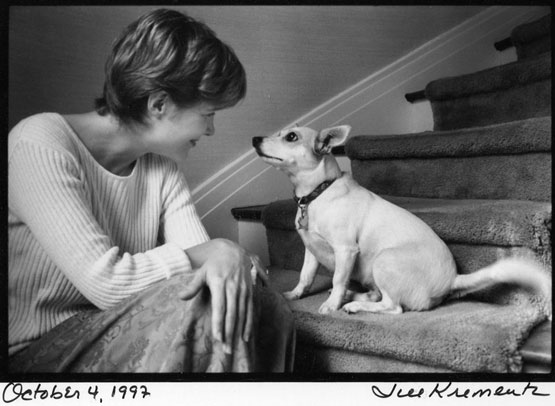 La escritora Ann Patchett y su perra Rose