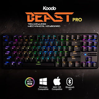 keyboard gaming mechanical terbaik koodo beast pro