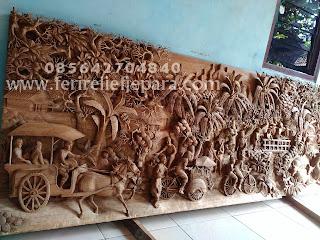 Ukiran Relief dimensi Jepara