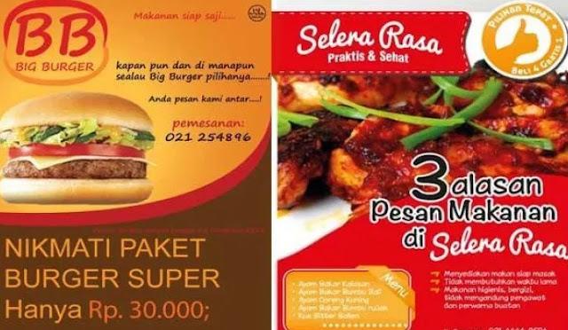 contoh iklan makanan media cetak beserta gambarnya