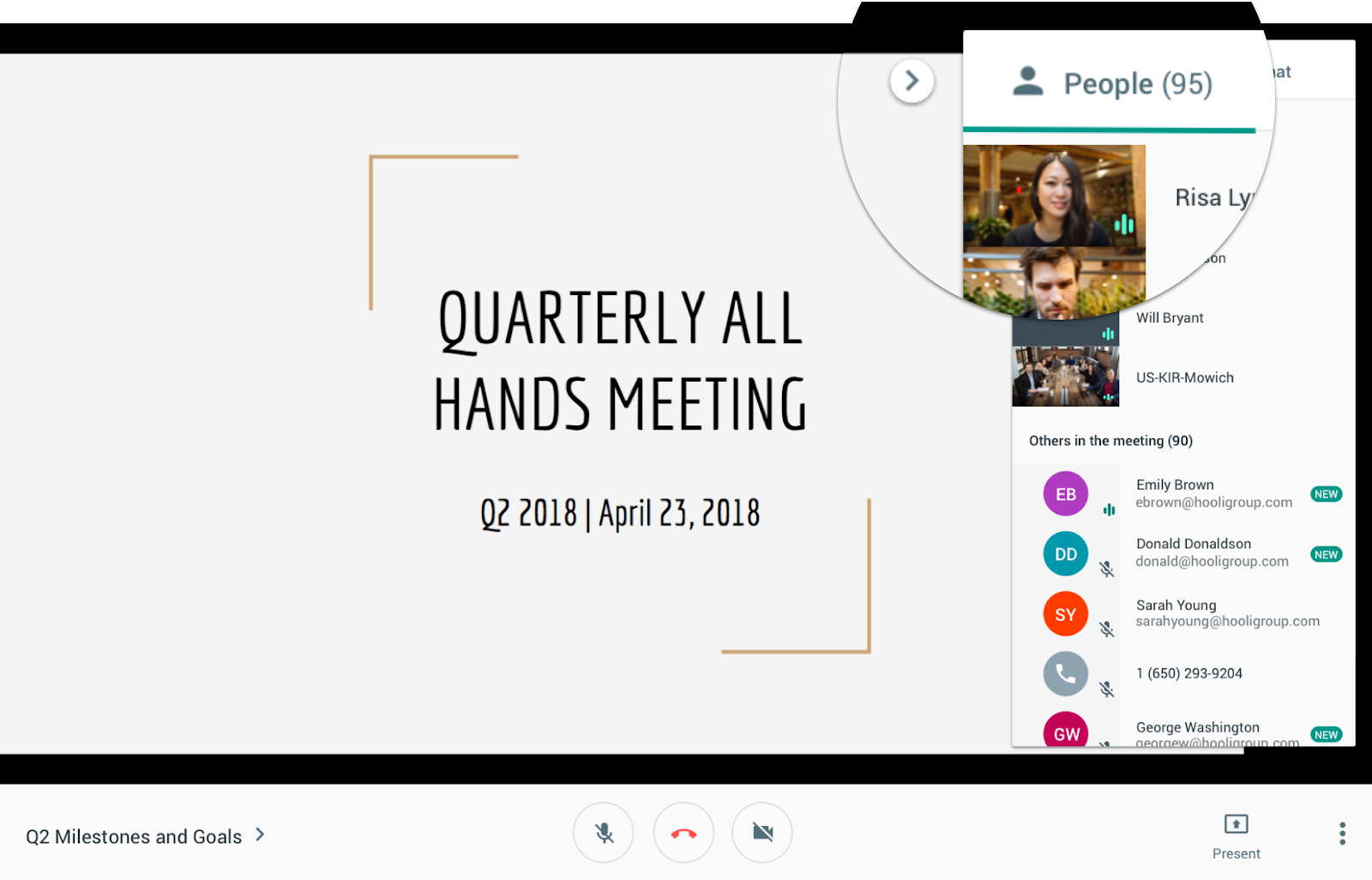 G Suite Updates Blog: Host Hangouts Meet meetings with up to