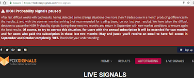 FoxSignals halt trading for summer