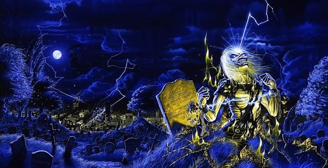 Εξώφυλλο δίσκου για το Live After Death των Iron Maiden