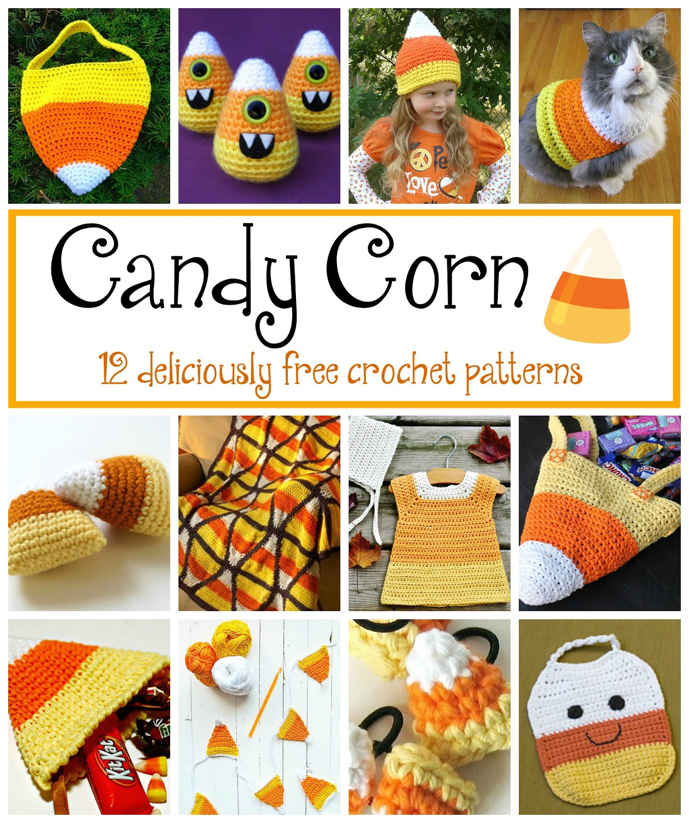 Fiber Flux Candy Corn 12 Free Crochet Patterns
