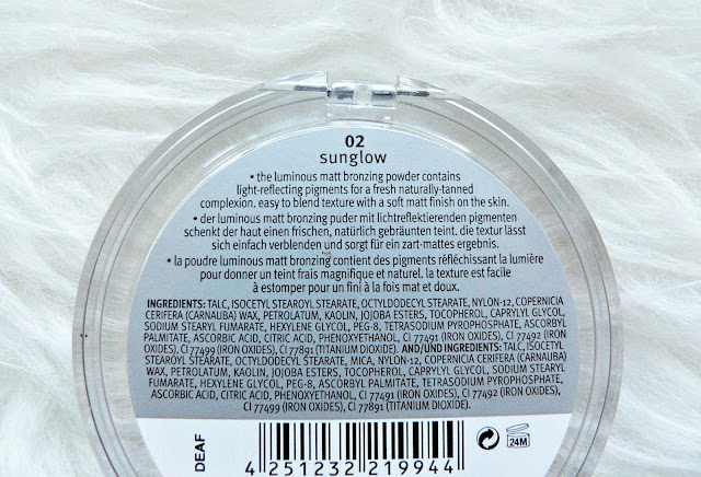 Essence Luminous Matt bronzing powder '02 Sunglow'  review swatches