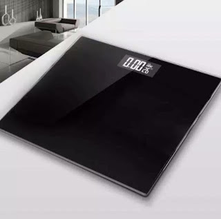 Timbangan Badan Digital Hitam LED Max 180kg Personal Body Weight Scale