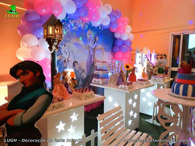 Decoração mesa de tema Os Enrolados - Mesa decorativa provençal